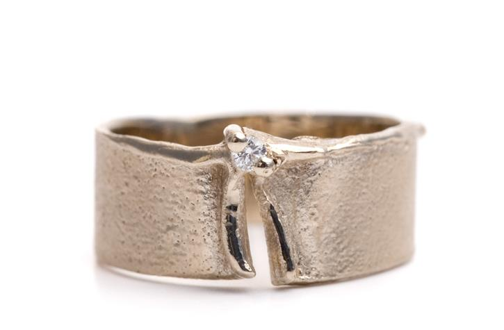 Ring in goud met diamant