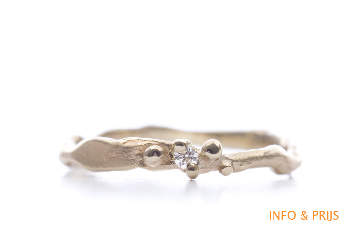Fijne ring in goud met diamant