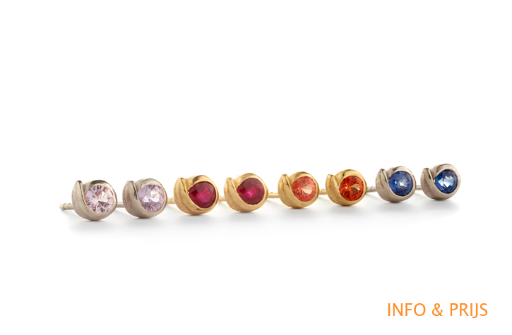 Earrings with color stones