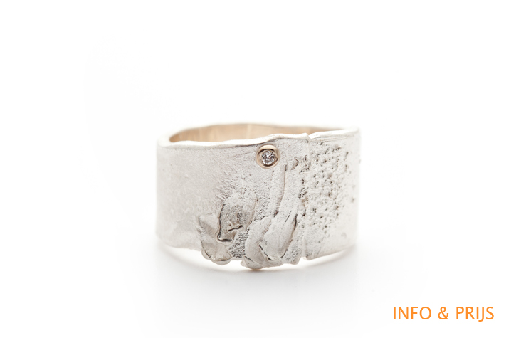 Ring in zilver met diamant