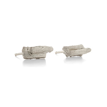 Earrings with wood structure
