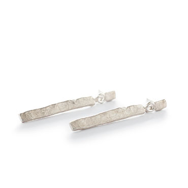 Long hammered earrings