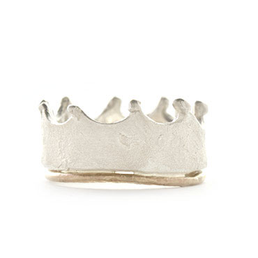 Crown ring in silver