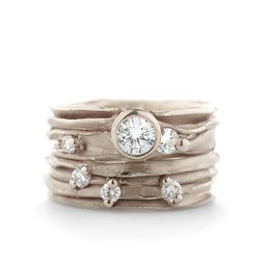 Ongekend Brede gouden ring met diamanten | Wim Meeussen Goudsmederij Antwerpen II-23