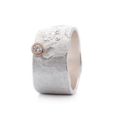 Wide Ring In Silver Wim Meeussen Goldsmith Antwerp