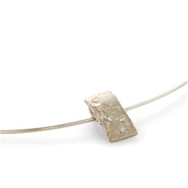 Pendant white gold with small diamonds