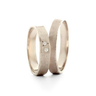 narrow wedding rings in white gold - Wim Meeussen Antwerp