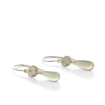 Earrings in white gold with smoky quartz